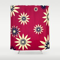 daisies Shower Curtains featuring Daisies by Armin