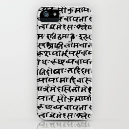Sanskrit // Light Grey iPhone Case
