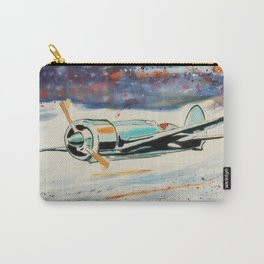 Airplane lost in the snow Carry-All Pouch
