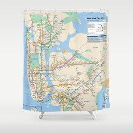 New York City Metro Subway Map Shower Curtain
