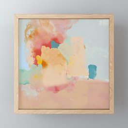 peachy landscape abstract Framed Mini Art Print
