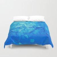 aquarius Duvet Covers featuring Aquarius  by HollyJonesEcu