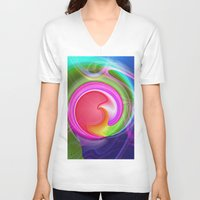 """agate V-neck T-shirts featuring """" Agate """"  by shiva camille"""