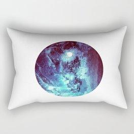 Ocean Moon // Blue Planet // Cerulean Solar Orb Rectangular Pillow