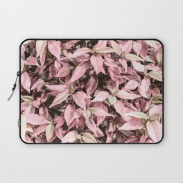 #Pink Foliage #nature #abstract Laptop Sleeve