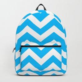 Capri - turquoise color -  Zigzag Chevron Pattern Backpack