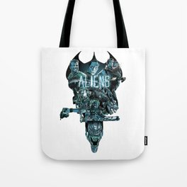 Aliens Illustration Tribute Tote Bag