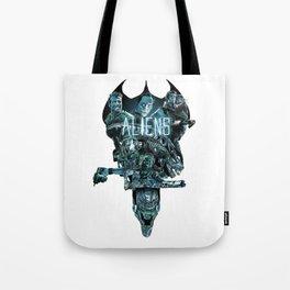 Aliens Illustration Tribute Tote Bag