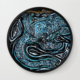 Underwater Secrets Wall Clock