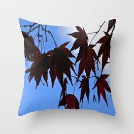 Silhouette Maples Throw Pillow