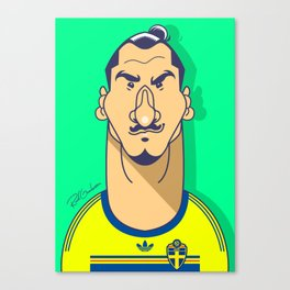 Zlatan from Sweden Canvas Print
