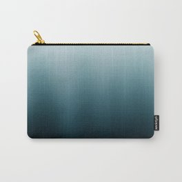 Ombre black Teal Green Gradient Carry-All Pouch