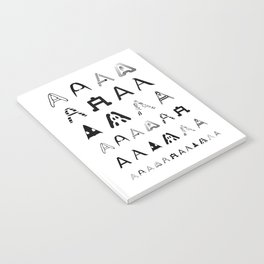 A is the first letter Notebook