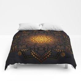 """Warm light Moroccan lantern Mandala"" Comforters"