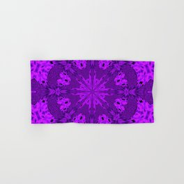 Peacock Double Kaleidoscope Purple Hand & Bath Towel