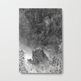 Rocks in the falls Metal Print