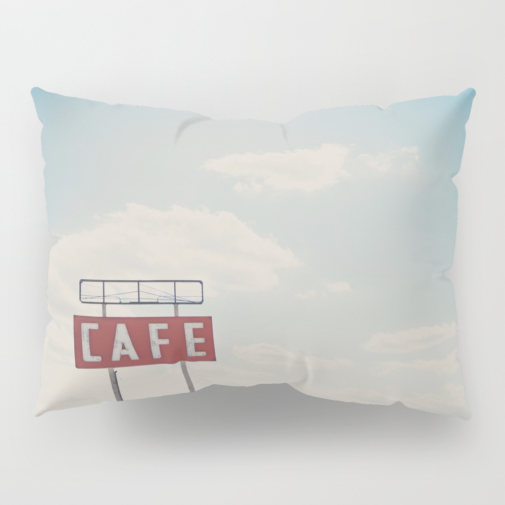 A Cafe Along Route 66 ... Pillow Sham by Oohprettyshiny PSH7540105