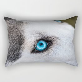 Siberian Husky Eyes (Color) Rectangular Pillow