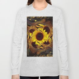 """""""UP TO MY BUTT"""" IN ALLIGATORS  GOLD ART Long Sleeve T-shirt"""