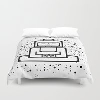 om Duvet Covers featuring om by andrealamas