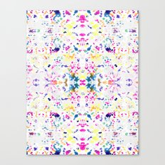 Paint Splatter - White Canvas Print