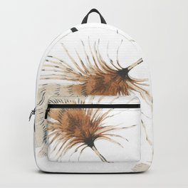 Delicate Brown Feather Seamless Pattern Backpack