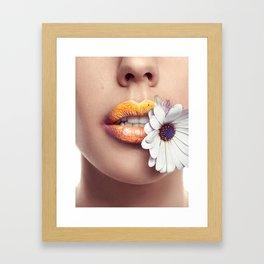 Flower Mouth - Marguerite Framed Art Print