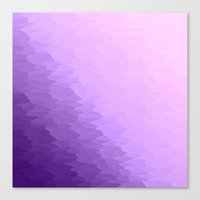lavender Canvas Prints featuring Lavender Ombre by SimplyChic