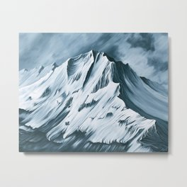Grey Mountain Metal Print