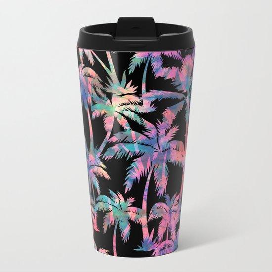 Maui Palm {Black} Metal Travel Mug