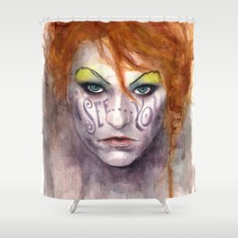 I See You Amanda Palmer Shower Curtain