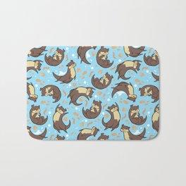 Otter Pattern Bath Mat