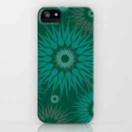 Dark Spiky Burst iPhone Case
