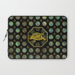 Golden Tortoise / Turtle Feng Shui Abalone Shell Laptop Sleeve