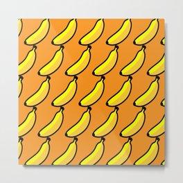 banana orange Metal Print