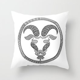 Zodiac Sign Capricorn Throw Pillow