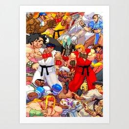 Street Fighter Third Strike - Fight! Art Print