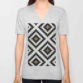 Urban Tribal Pattern No.16 - Aztec - Concrete and Wood Unisex V-Neck