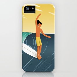 Sunset surf iPhone Case