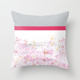 Colorblock Cherry Throw Pillow