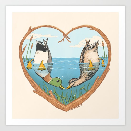 Duck Love Art Print