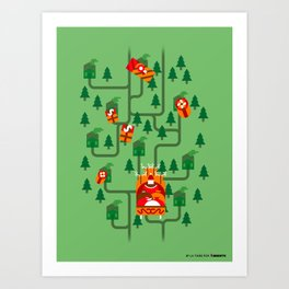 Santa Claus' Sleigh! Art Print
