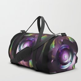 Believe in magic, mixed media abstract Duffle Bag