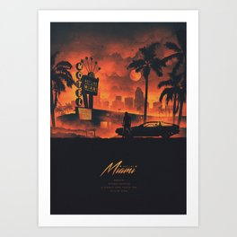 HOTLINE MIAMI / NEW 2018 Art Print