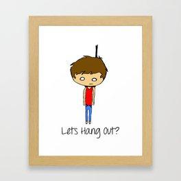 Lets Hang Out Framed Art Print