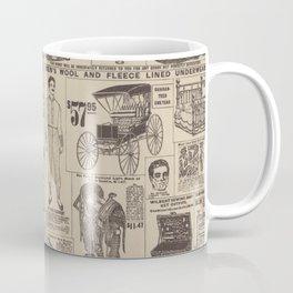 vintage newspaper Coffee Mug