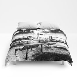 River Thames View Comforters