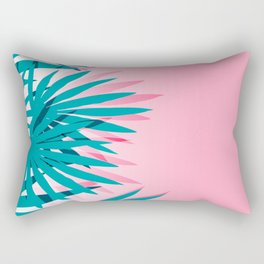 Dissed - memphis retro vintage neon pink pastel ombre trendy girl gift for hipster urban beach goer Rectangular Pillow