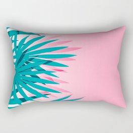 Dissed - memphis retro vintage neon pink pastel ombre trendy girl gift for hipster urban beach goer Rectangular Pillow