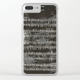 Brahms Sheet Music - Ballade Clear iPhone Case